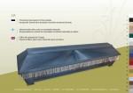 1P Sädeverhoiltu arkku, joka on somistettu hapsuilla.